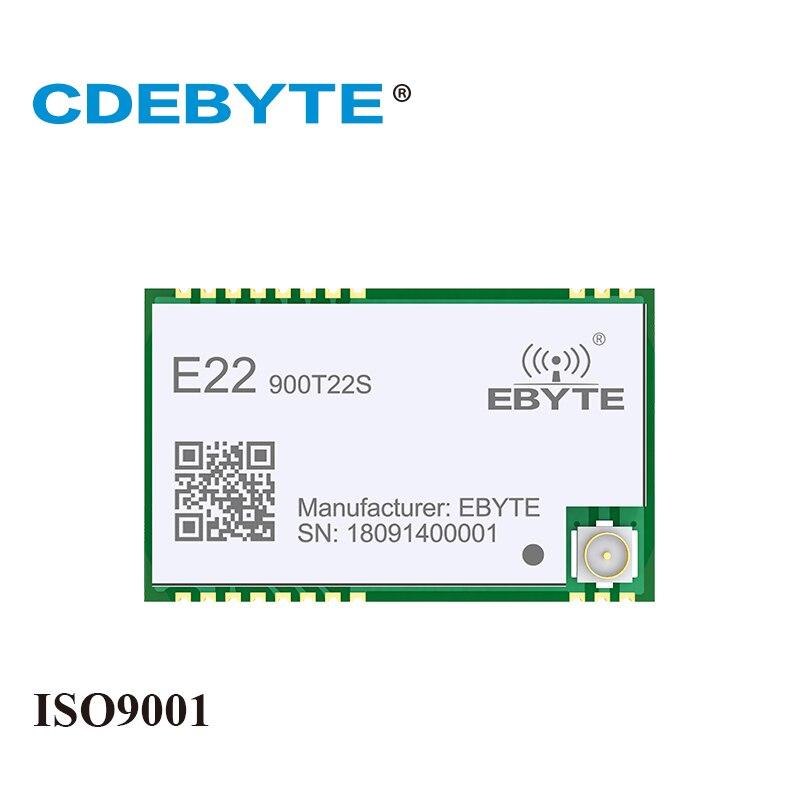 Ebyte E22-900T22S LoRa SX1262 915MHz 868MHz 22dBm IoT Module SMD RF UART Transceiver IPEX Stamp Hole Antenna