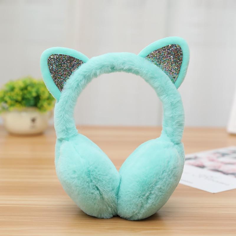 Fashion Cat Warm Ear Muffs Creative Cute Cartoon Winter Ear Warmer Illuminated Cold Protection Earmuffs High Quality Hot Sale