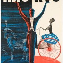 Póster de magia USSR ruso Vintage de circo de magos, pinturas clásicas en lienzo, pósteres de pared Vintage, pegatinas para decoración del hogar, regalo