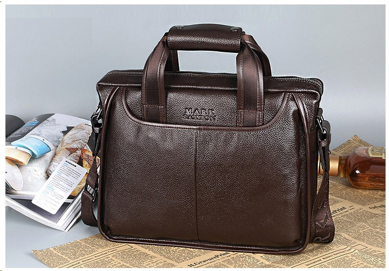 Hcca305688875437098d103a6b7ce73aeK 2019 New Fashion cowhide male commercial briefcase /Real Leather vintage men's messenger bag/casual Natural Cowskin Business bag
