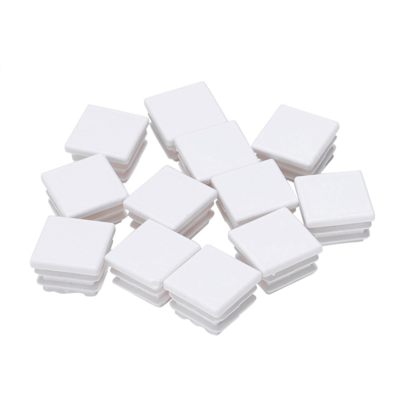 New-20 Mm X 20 Mm Plastic White End Caps Blanking Version Of The Caps Spare Caps Accessories For Professional Square Tube Insert