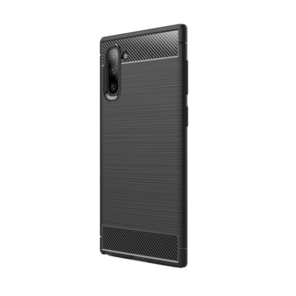 2019 New Phone Case For Samsung Galaxy Note 10 Slim Hybrid Carbon Fiber Matte TPU Case Cover Mobile Accessories FW3