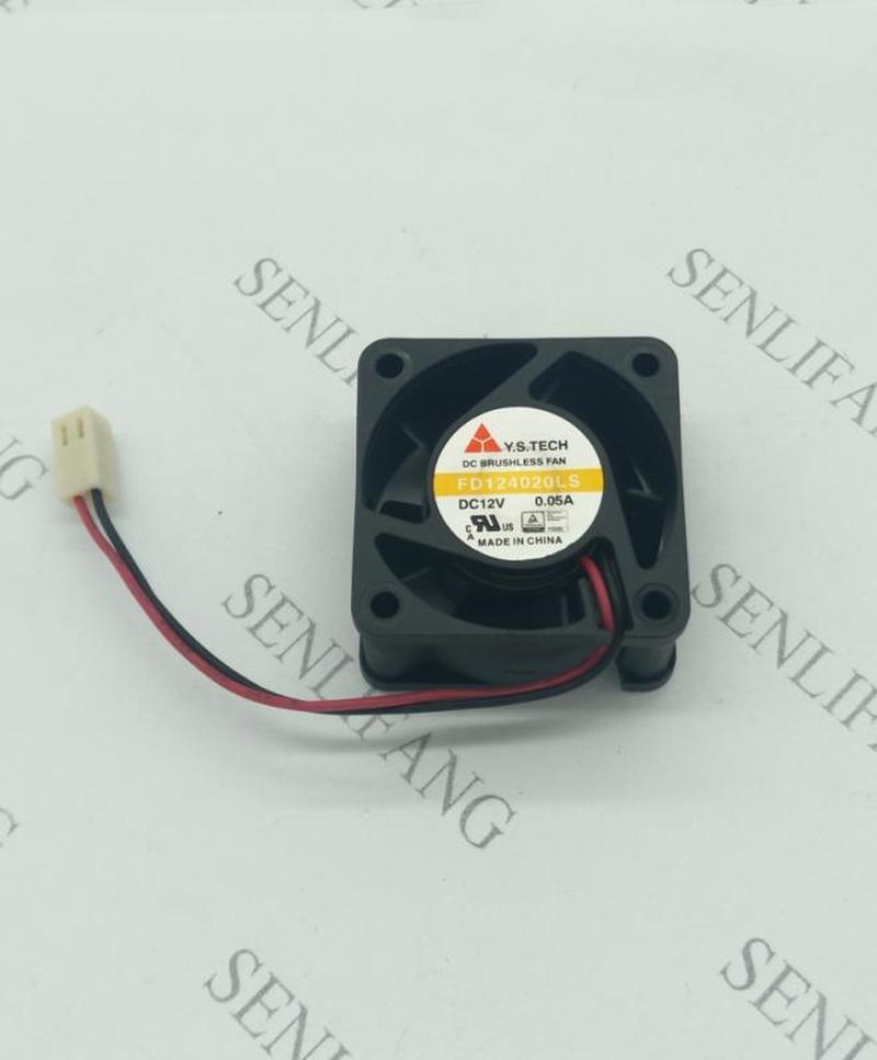 Free Shipping For Y.S.TECH FD124020LS DC 12V 0.05A 40x40x20mm 2-wire Server Cooler Fan