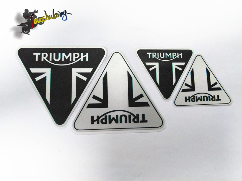 Racing Helmet 3m  Set Of Stickers For Triumph Logo Motorcycle Fuel Tank Sticker Warning Label Warning Sticker