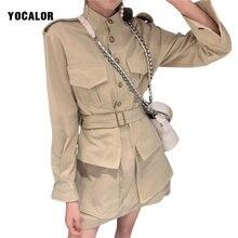 Хлопковая Осенняя рубашка с длинными рукавами корейское короткое