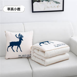 SB cotton cartoon quilt blanket portable foldable square throw pillow home office car air conditioning quilt Cartoon pillow