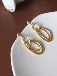 Metal Baroque tassel Earrings temperament matte Earrings simple small ear Earrings jewelry