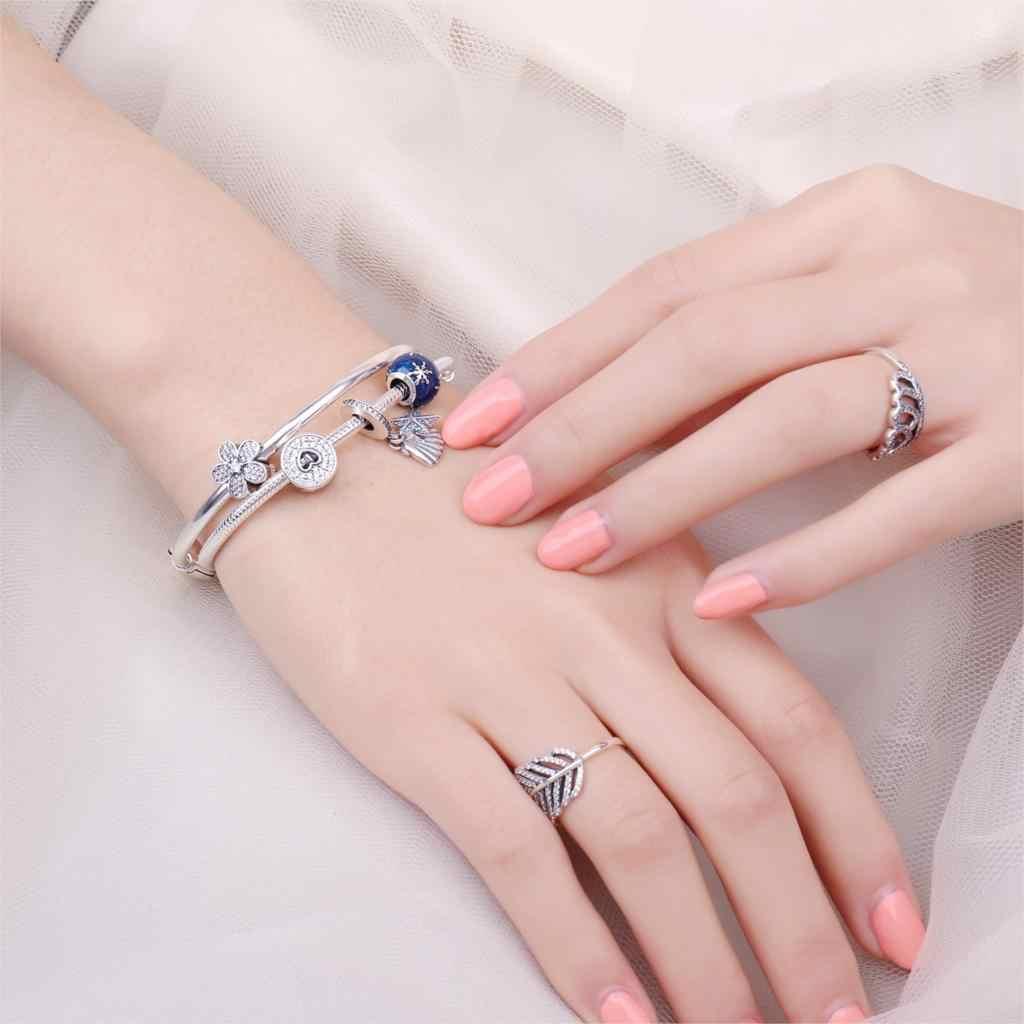 JewelryPalace Daisy Blume 925 Sterling Silber Perlen Charms Silber 925 Original Für Armband Silber 925 original Schmuck Machen