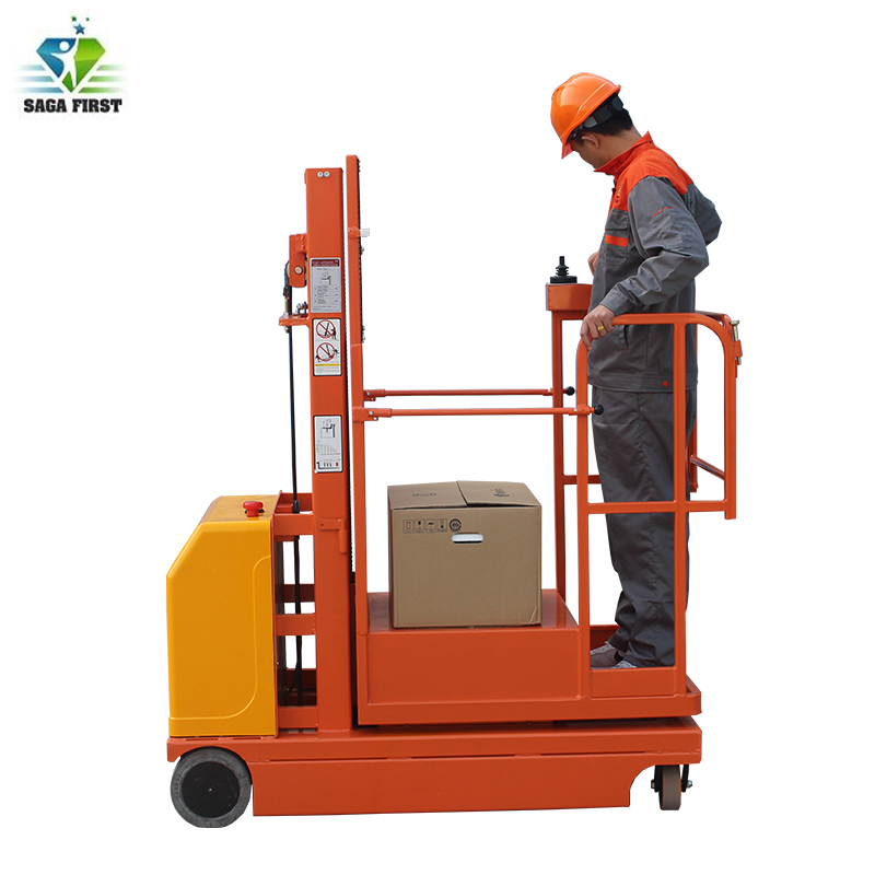 Low Price Electric Platform Lifting Self Propelled Order Picker