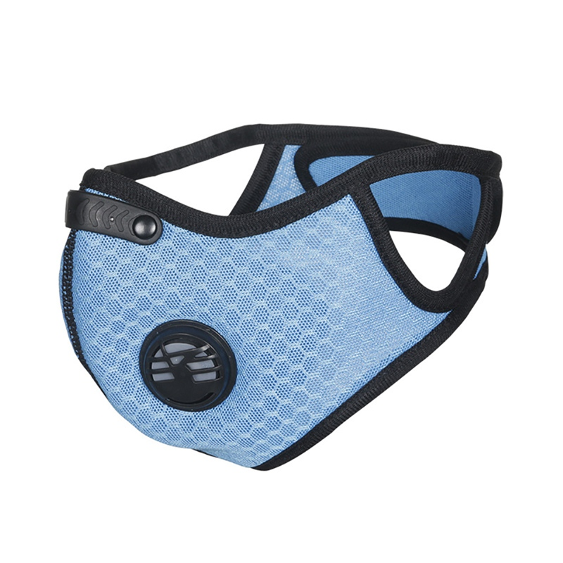 Cycling Face Mask Sport Training Mask PM2.5 Anti-pollution Running Mask Activated Carbon Filter Washable Mask