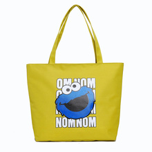 New cartoon printed women's tote bag large capacity nylon lady shoulder travel
