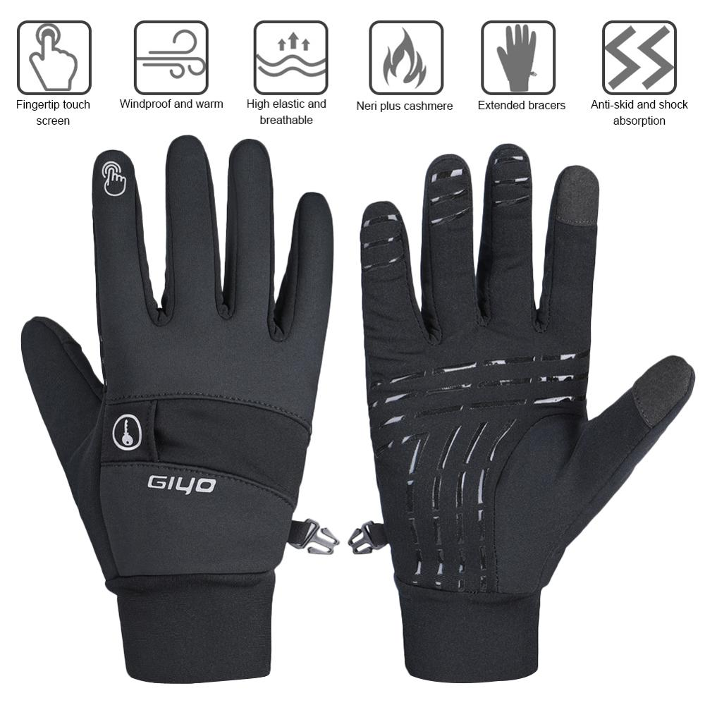 Winter Outdoor Sports Running Cycling Glove Warm Touch Screen Gym Fitness Full Finger Windproof Gloves For Men Women Magic Glove