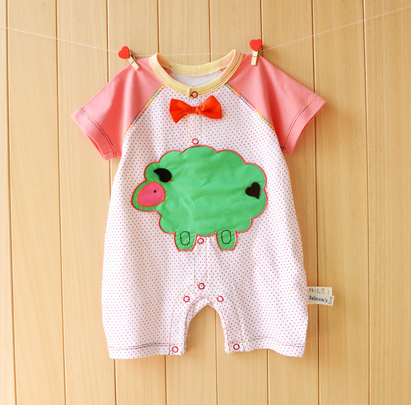 Baby Girls Rompers 2020 Summer Newborn Boy Clothes Cotton Short Sleeve Toddler Clothing Cartoon Infant Baby Jumpsuit