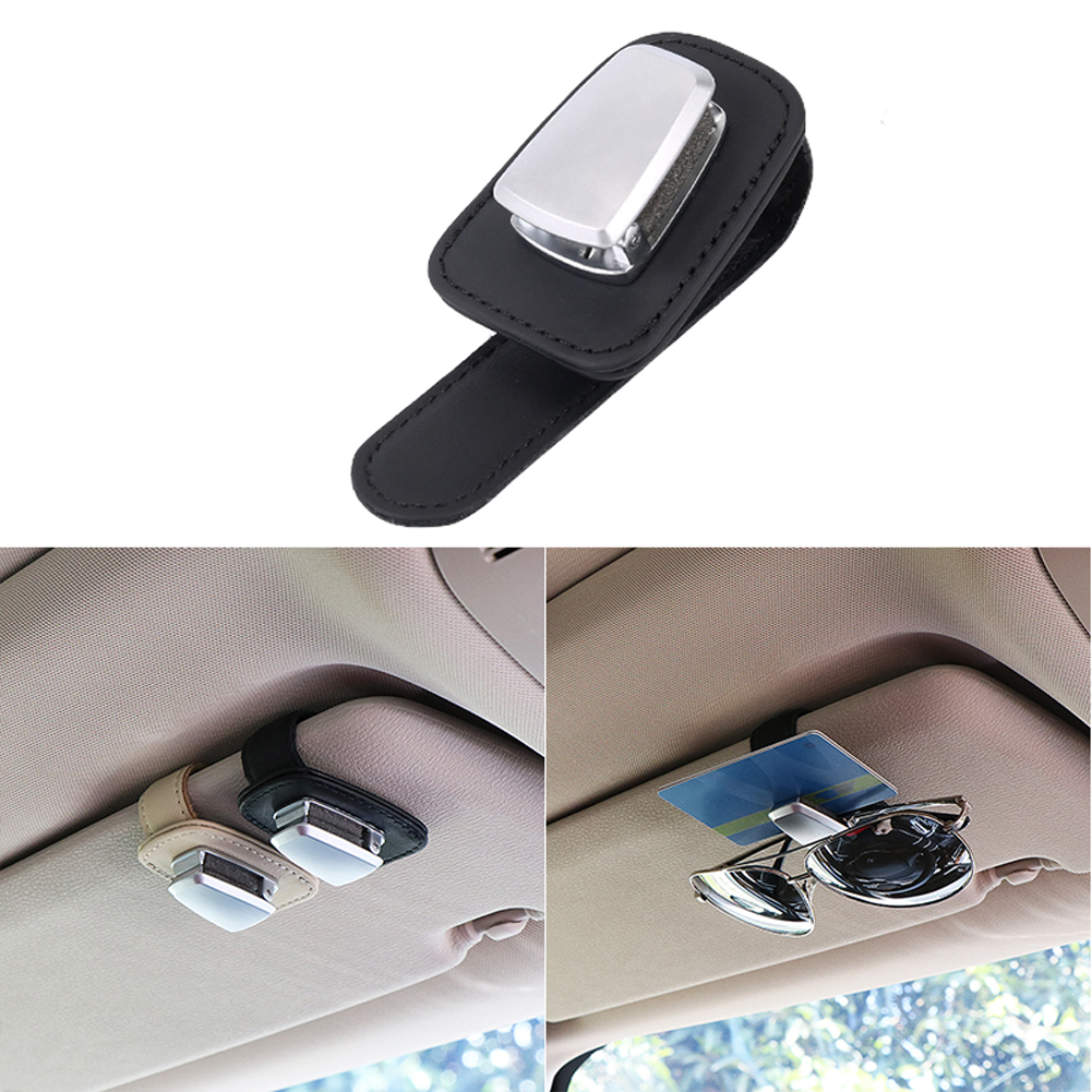 fast-shop 2x Portable Car Auto Visor Glasses Sunglasses Plastic Clip Holder Black Useful and Practical