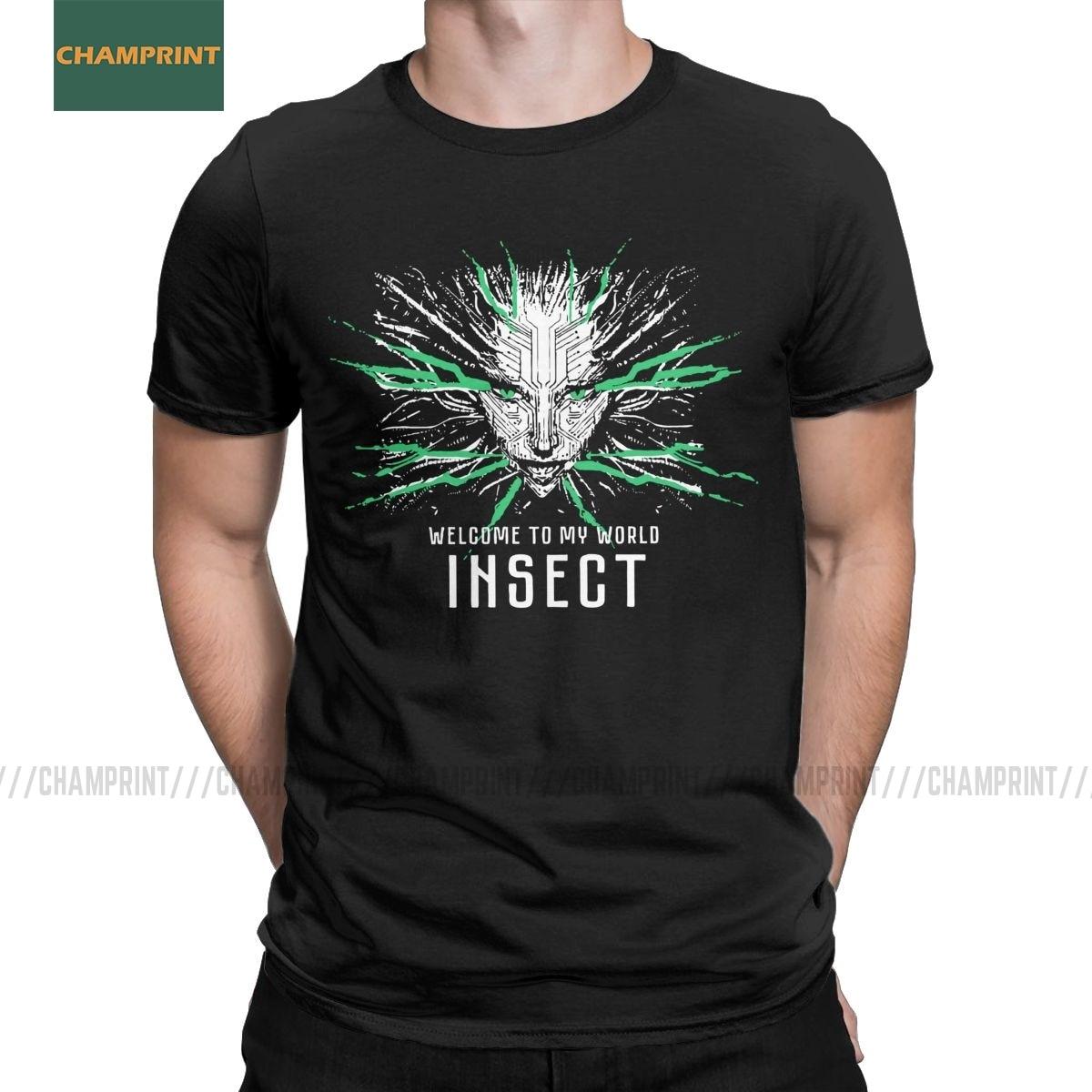 Men's Shodan System Shock T Shirt PC Game Rpg Hacker Citadel 100% Cotton Tops Vintage Short Sleeve Tees 4XL 5XL 6XL T-Shirt
