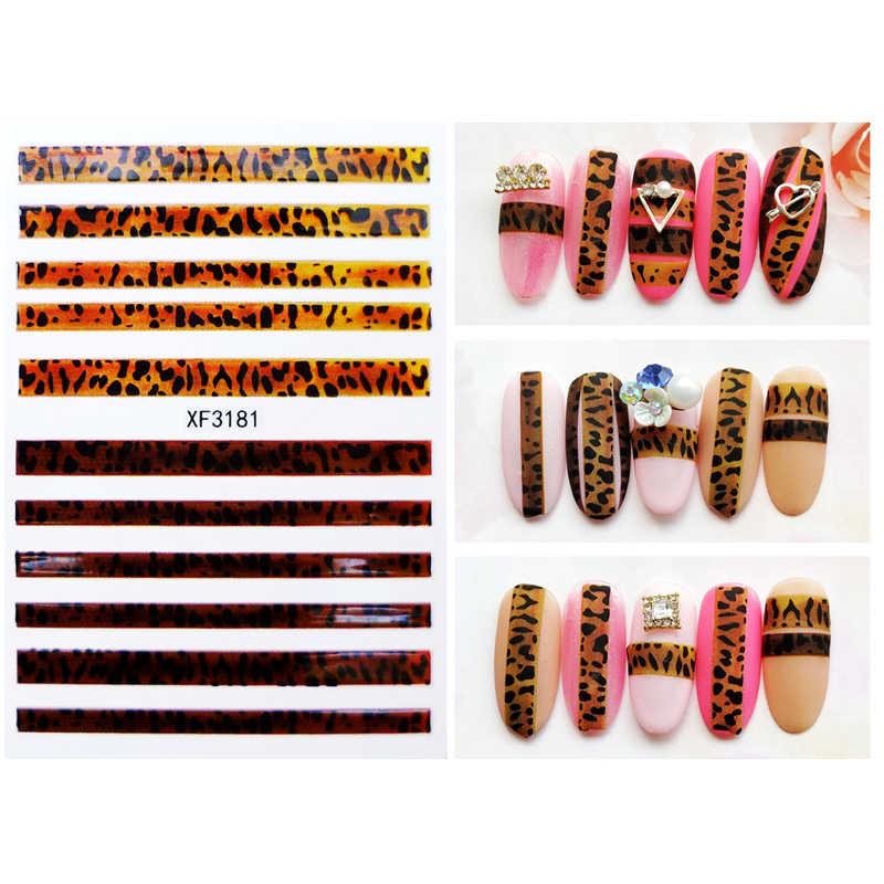 Милые леопардовые наклейки для ногтей, декоративная наклейка, наклейки для маникюра, наклейки для дизайна ногтей с тигром, наклейки с леопардовым принтом для девочек
