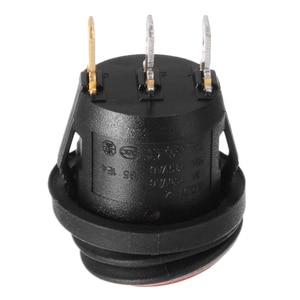 Image 5 - MAYITR 4Pcs Waterproof 12V 12A On/Off 3 Pin SPST Dot Switch Car Boat LED Round Rocker Switch Red/Blue/Orange/Green