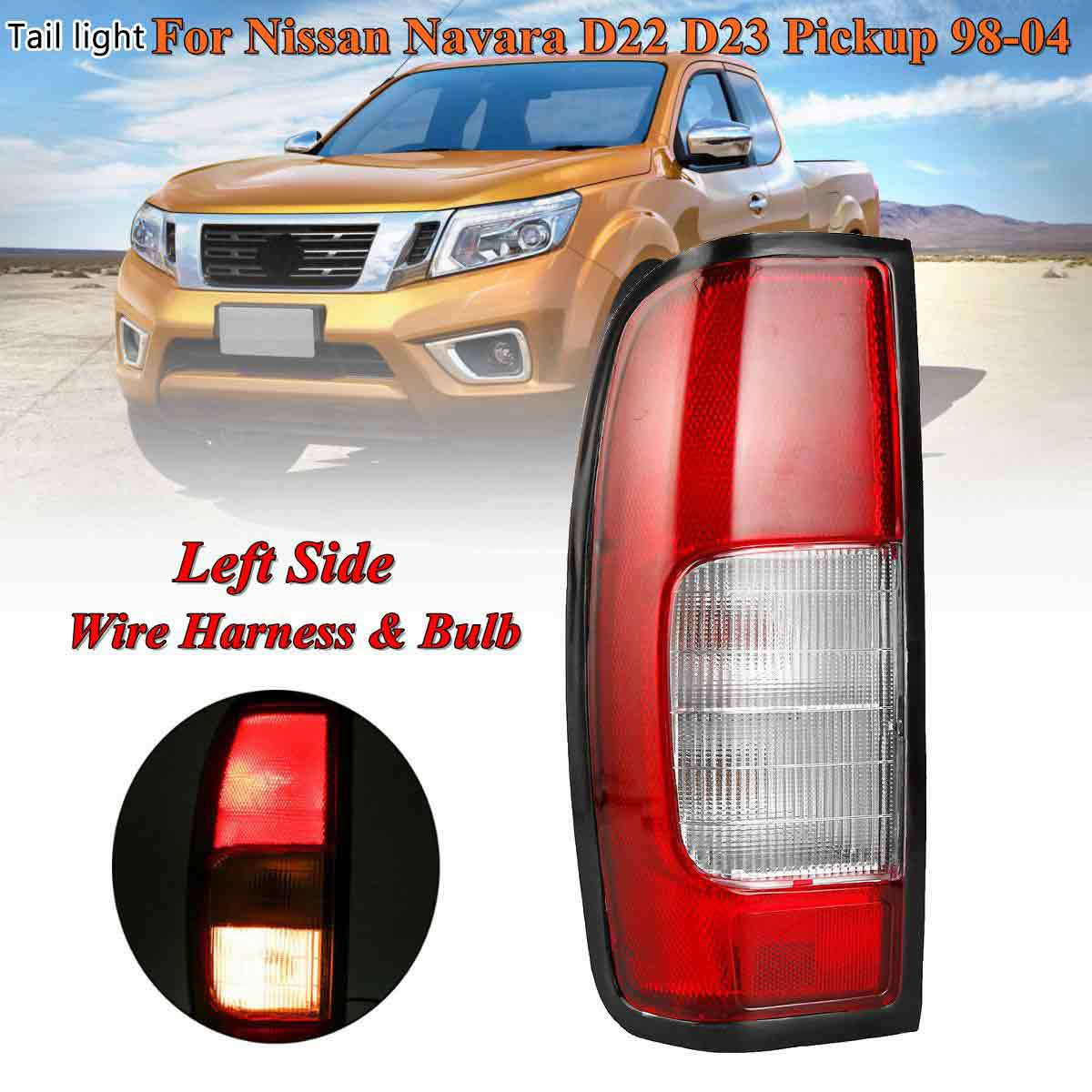 Left Right Rear Tail Brake Light Lamp With Bulb wire harness for Nissan Navara D22 D23 Pickup 1998 1999 2000-2004 RLN026-UK-L
