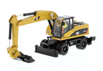Diecast Masters 1/87HO  caterpillars Cat M318D Wheel Excavator High Line Series HO Scale 85177 caterpillar cat m316d wheel excavator 1 50 model by diecast masters 85171