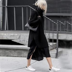 Image 5 - Twotwinstyle韓国側分割女性のセータータートルネック長袖暖かい厚手の女性のセーター2020秋冬ファッション新