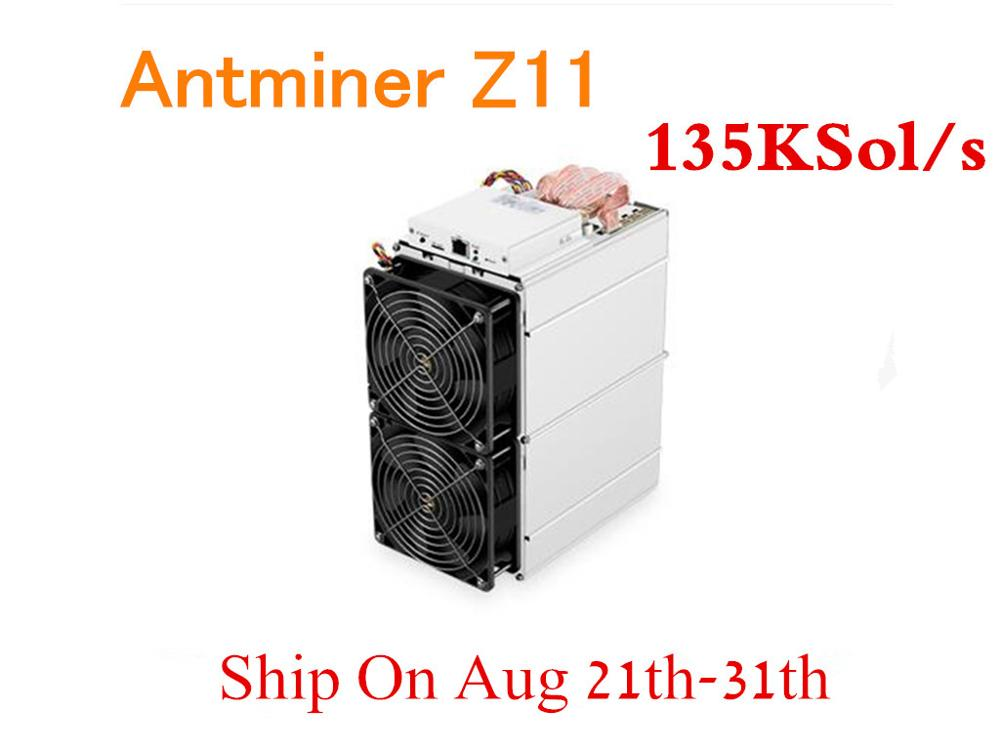used Antminer Z11 135k Sol/s 1418W Asic Equihash ZCASH ZEC Miner Better Than Antminer Z9 S9 S11 S15 Innosilicon A9