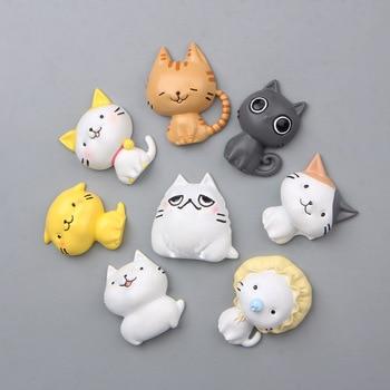 Resina Kawaii gato imanes recuerdo para nevera imán pegatina hogar Decoración Cocina Decoración Accesorios