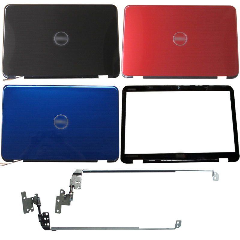 NEW For <font><b>DELL</b></font> Inspiron 15R <font><b>N5110</b></font> M5110 M511R Laptop LCD Back Cover/Front Bezel/Hinges 00KXW3 image