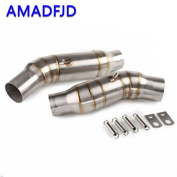 Motorcycle Exhaust Conenct Middle Pipe With exhaust pipe Muffler Slip on Full System Exhaust Fit Kawasaki Z1000 2010-2016