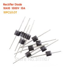 10PCS/LOT 10A10 1000V 10 Amp 10A 1000V Axial Rectifier Diode NEW&High quality