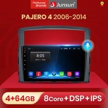 Junsun – autoradio V1 pro, Android 10, 2 go/32 go, Navigation GPS, lecteur multimédia vidéo, dvd, 2 din, pour voiture Mitsubishi PAJERO 4 (2006 – 2014)