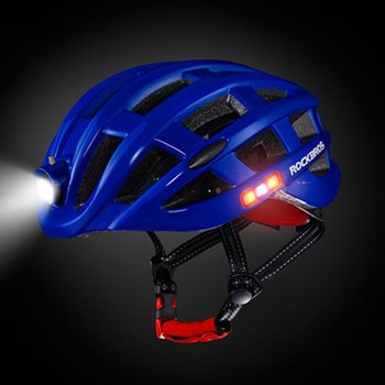 цены ROCKBROS Outdoor Sports Helmet With Light Mountain Bike Riding Safety Helmet For Cycling Bike Bicycle Riding