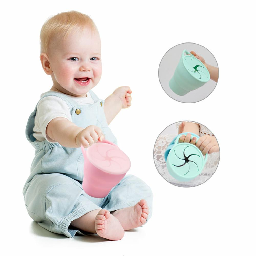 Baby Food Box Leakproof Snack Cup Baby Food Container Out Portable Food Storage Container Baby Handle Feeding Box Snack Box