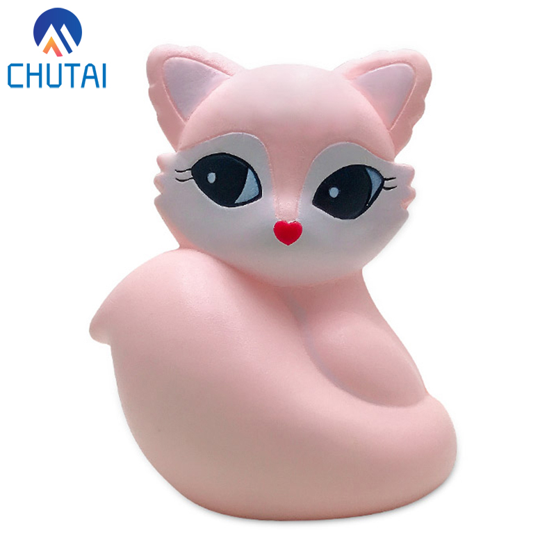 Super Jumbo Kawaii Fox Squishy Slow Rising Simulation Squeeze Toy Soft Scent Stress Relief Toy For Children 15*12 CM