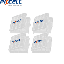 4個pkcellホルダーケースプラスチックポータブルaa aaa充電式/一次電池