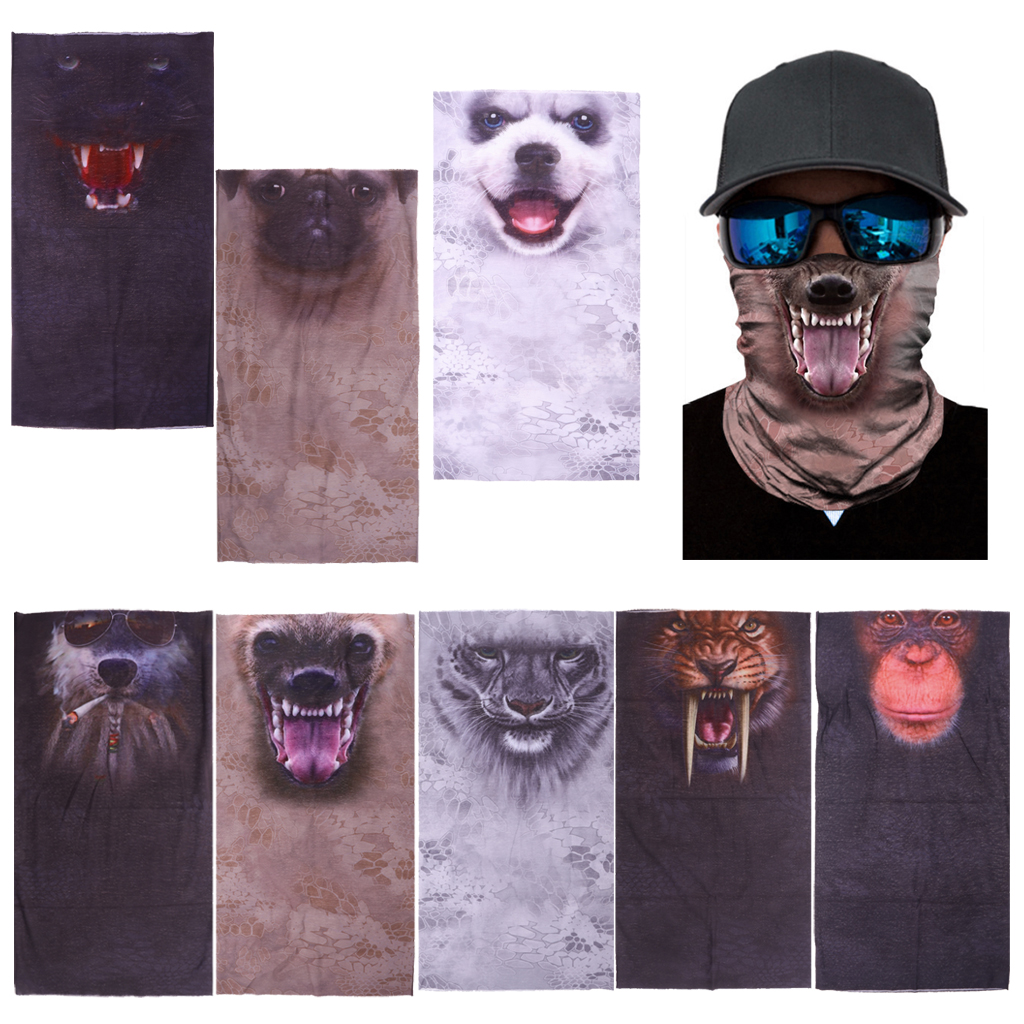 Multi-purpose Animal Printed 3D Headwear Outdoor Sports Face Mask
