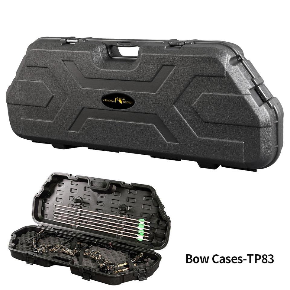 Compound Bow Storage Case Hard Plastic Arrow Archery Lockable Black