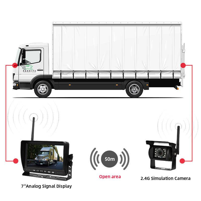 Jansite bezprzewodowy 7 cal cofania samochodu kamera cofania Backup widok z tyłu dla samochodów ciężarowych autobus do koparek karawan RV przyczepy z monitorem