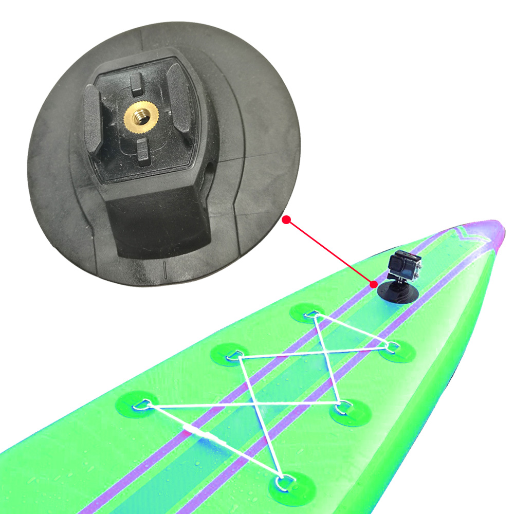 2 Colors Kayak Stand Up Board Camera Flat Curved Mount Base