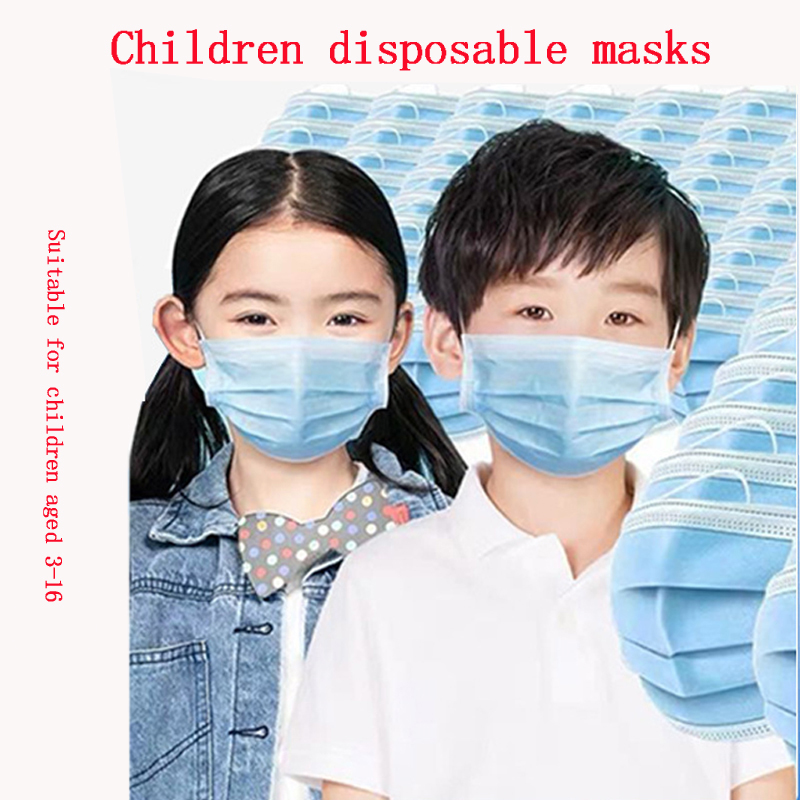 Dental Mask 3Laye Waterproof Anti-Pollution Dust Protection Child Disposable Face Mask Child Protection Supplies Dental Products