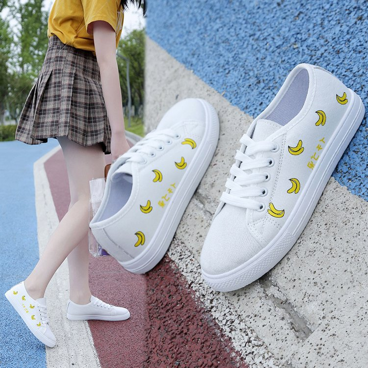 Online Celebrity Strawberry Canvas Shoes Student Korean-style 2019 Trendy Shoes Shoes Ulzzang Versatile Base Small