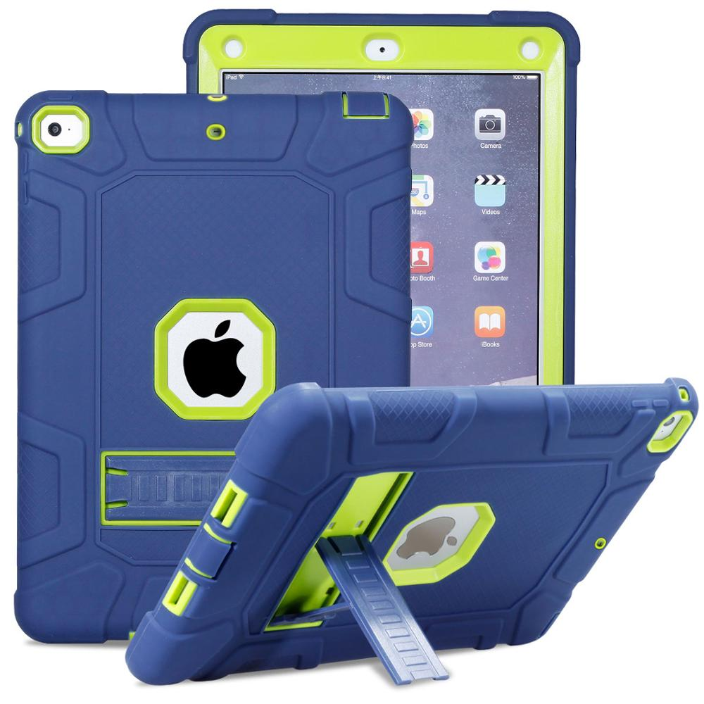 New Armor Case For IPad 9.7 2017 2018 5th 6th Generation Safe Heavy Duty Silicone Hard Cover For IPad 9.7 2018 Tablet Case
