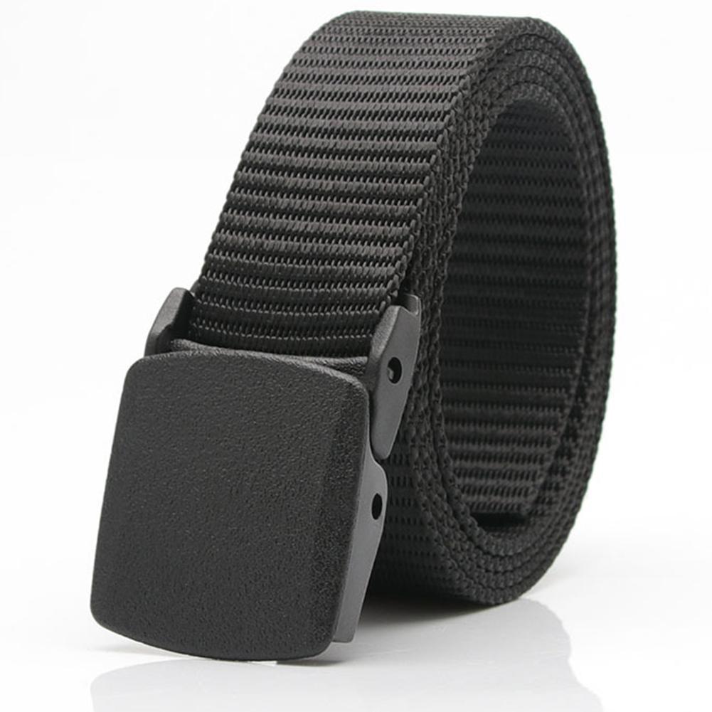 Fashion Men Adjustable Solid Color Buckle Pants Outdoor Waist Belt Waistband Womens Belts