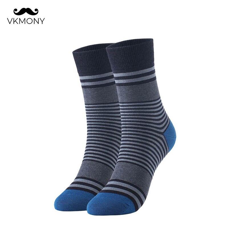 Мужские хлопковые носки, Модные Цветные мужские носки в полоску, брендовые носки больших размеров, британский Размер 7-11, европейские