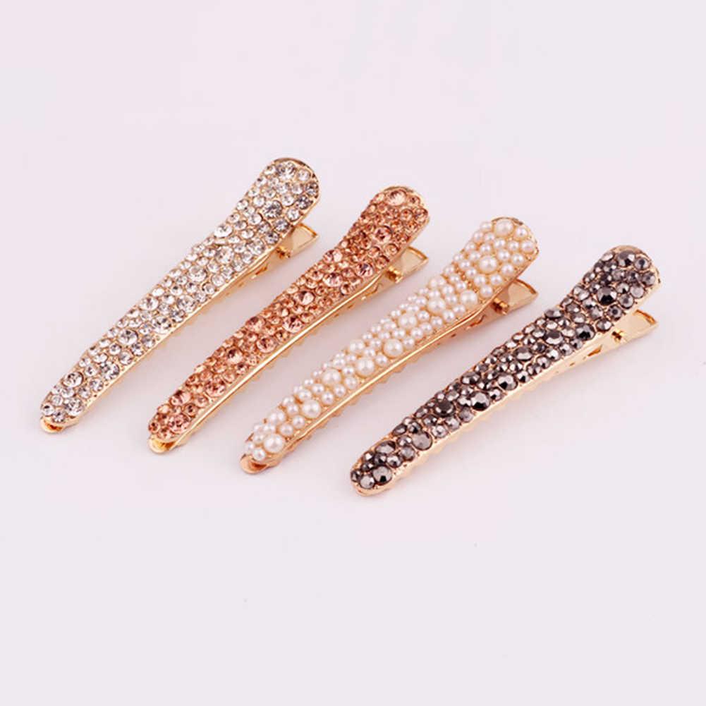 Accesorios para el cabello para mujer con diamantes de imitación y perlas geométricas