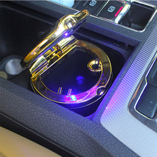 Car Ashtray High Flame Retardant For 4s Shop Manufacturer Portable Simple With Light