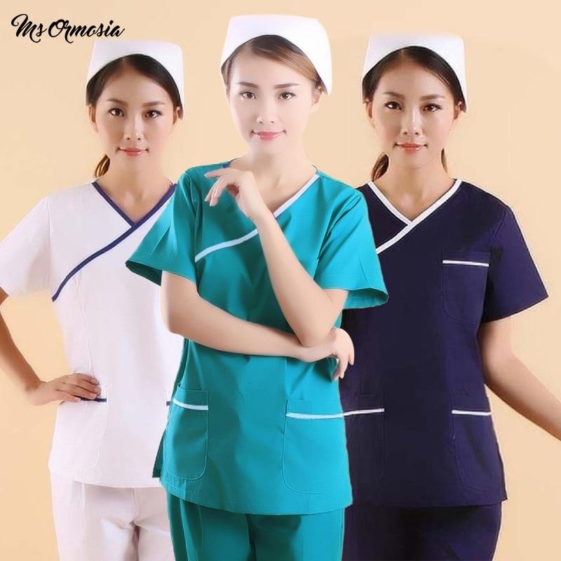 New Uniform Hospital Women Medical Apparel Care Matte Clothes Clothes Dental Clinic Beauty Salon Nurse Surgery Set Wash Clothes