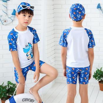 3 sztuk stroje kąpielowe dla dzieci chłopiec kostium kąpielowy chłopiec strój kąpielowy dla dzieci dla dzieci wysypka straż Surfing kostium kostiumy kąpielowe chłopców ubrania zestaw strój kąpielowy tanie i dobre opinie lulukohs spandex Pasuje prawda na wymiar weź swój normalny rozmiar Cartoon Unisex Boys Swimwear Boy Swim Suit 3-14 Two Pieces