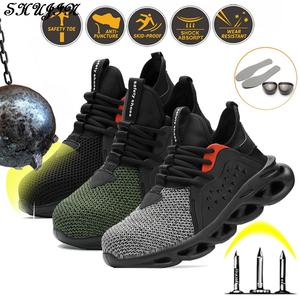 Shoes Safety-Boot Insurance Anti-Piercing Lightweight Construction-Site Labor Flying-Woven