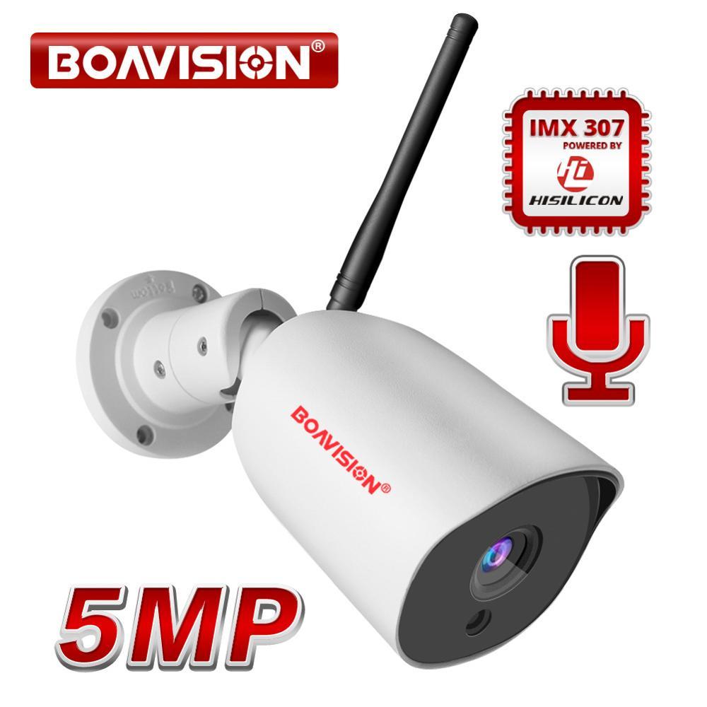1080P 5MP IP Camera WIFI Wireless Outdoor Full Metal Waterproof Bullet Security Camera ONVIF 2-Way Audio Night Vision 20M CamHi