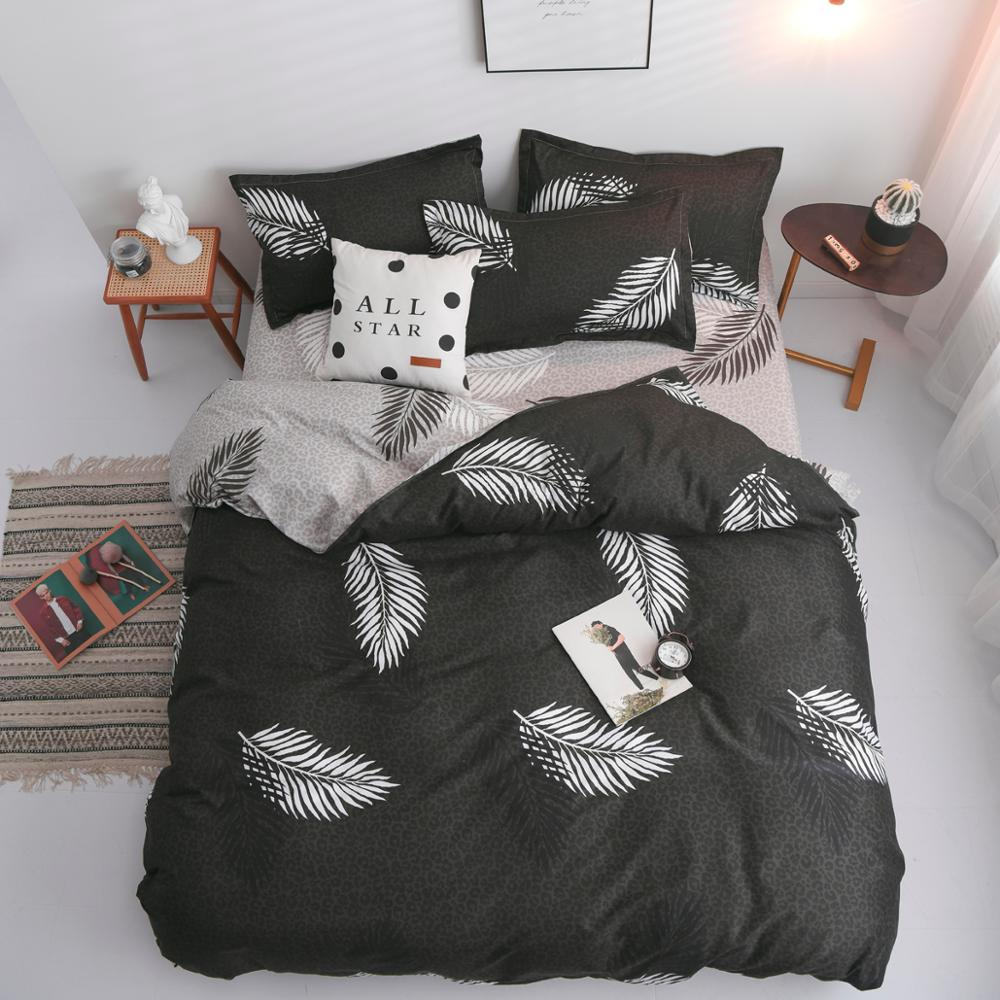 Feather Bed Sheet Set Comforter Cover Bedding Sets Single Queen King Size Luxury Bedding Set Free Shipping